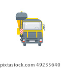 truck with crane illustration front view 49235640