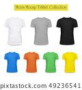 3d black and white, grey t-shirt. Clothing fashion 49236541