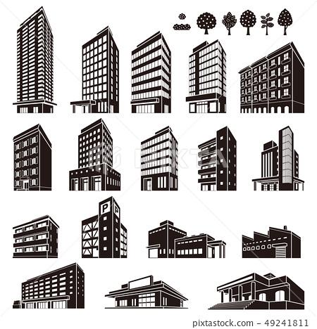 各種建築物的插圖 49241811