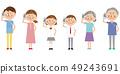 팝 3 세대 가족 휴대 전화가 통화 49243691