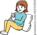 Smartphone girl 49243904