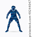 Goalkeeper prepare catches the ball graphic vector 49244047