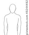 human standing vector illustration hand drawn 49244492