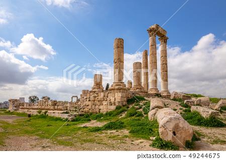 Temple of Hercules on Amman Citadel in Jordan 49244675