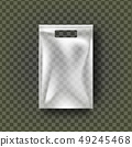 Plastic Hang Pouch Vector. Transparent Pocket Wrap. Empty Bagged Product Polyethylene Mock Up 49245468