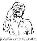 man taking photo vector illustration hand drawn 49245875