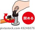 Shut off the gas source 49246076