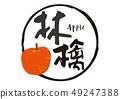 사과 사과 붓글씨 49247388