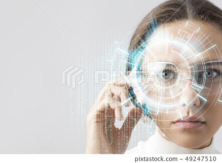 Futuristic smart glasses 49247510
