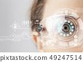 未來 未來派 眼睛 49247514