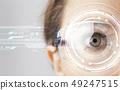 眼睛 目光 眼鏡 49247515