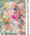 Watercolor color stains and brush strokes 49247708