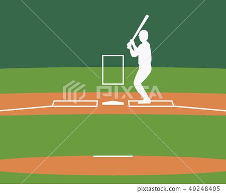 棒球場擊球區指示 49248405