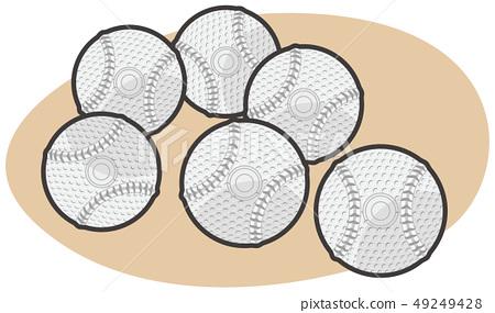 Baseball soccer ball illustration 49249428