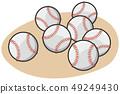 Baseball style ball illustration 49249430