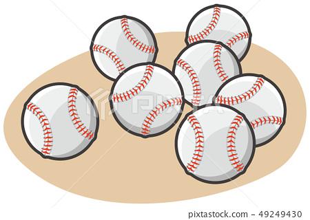 야구 경식 공 일러스트 49249430
