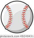 Baseball style ball illustration 49249431
