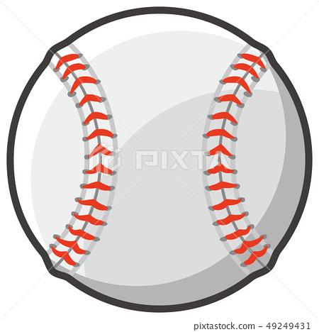 棒球樣式球例證 49249431