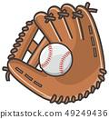 Baseball glove and ball 49249436
