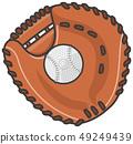 Catcher's mitt and ball 49249439