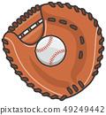 Catcher's mitt and hardball 49249442