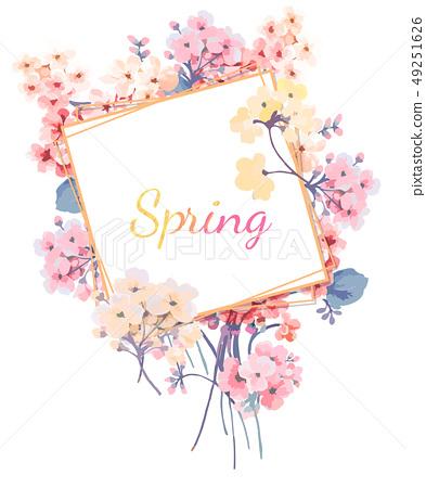 美麗的插畫小小花卉 49251626