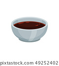 Soy sauce in bowl on white background. 49252402