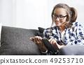 平板 平板電腦 女性 49253710
