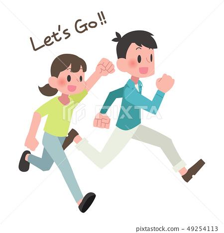 Run men and women 49254113