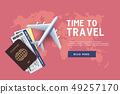 Time to travel. Vacation trip offer concept. 49257170