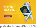 Time to travel. Vacation trip offer concept. 49257178