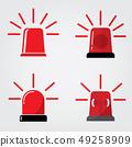Siren Icon in trendy flat style 49258909