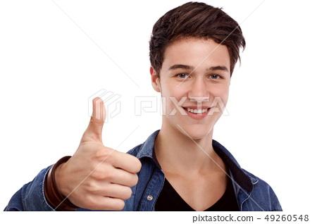 Hopeful young man 49260548