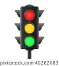 Realistic traffic lights 49262083