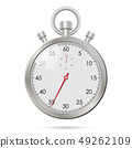 Silver realistic stopwatch 49262109