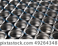 Metal tin paint cans background 49264348