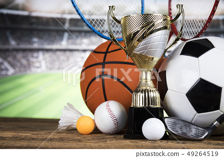Sport stadium background, Trophy for champion 49264519