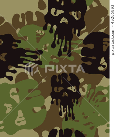 Camouflage Patternseamless Army Wallpaper Stock