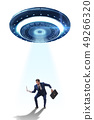 Flying saucer abducting young businessman  49266320