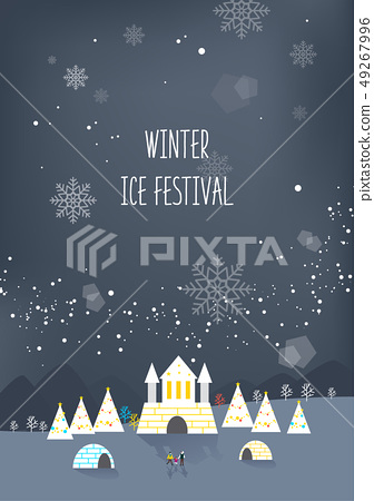 Winter travel illustration 49267996
