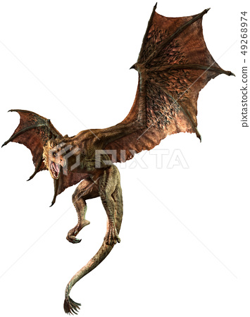 Wyvern 3D illustration 49268974
