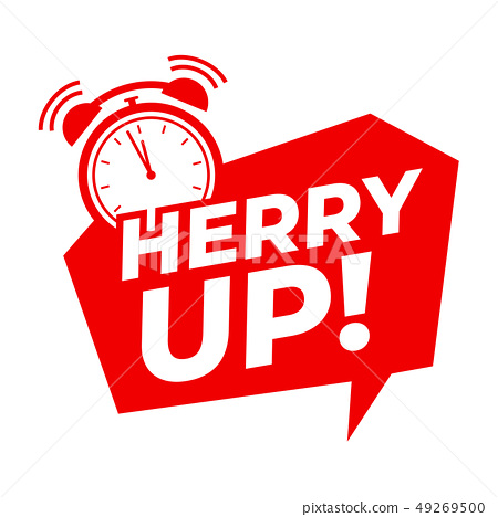 Hurry up with alarm clock symbol, Promotion offers 49269500