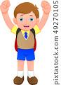 cute school boy 49270105