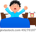 little boy wake up in the morning 49270107