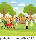 Family barbecue picnic 49272876