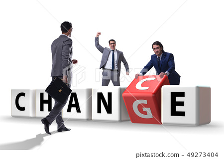 Businessman in change and chance concept 49273404