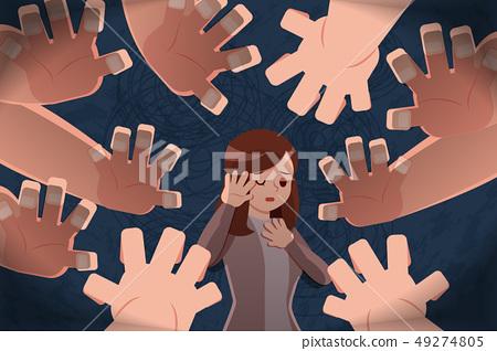sad girl getting bullied 49274805