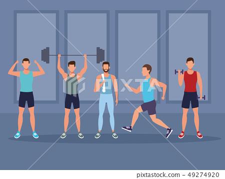 mens fitness doing exercise 49274920