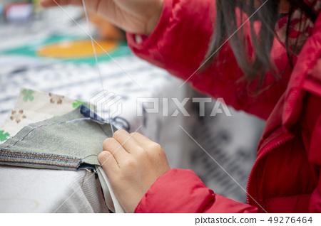 缝包包,针包,针线,ミシン袋、針袋、上糸、Sewing bag, needle thread, 49276464