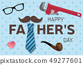 Happy Fathers Day greeting card. Happy Fathers Day poster. Vector. 49277601